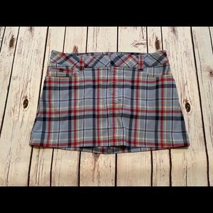 Abercrombie vintage plaid school girl mini skirt 6